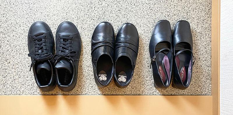 ミニマリスト女性の靴の数