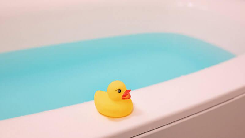 配信ライブ前にお風呂へ