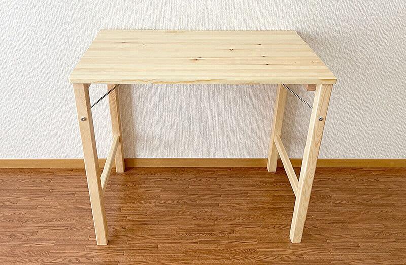 無印折りたたみテーブル完成