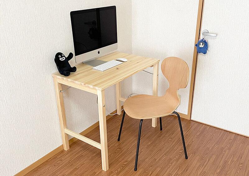 無印折りたたみテーブルと椅子