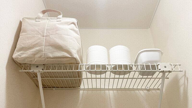 一人暮らしミニマリストのトイレ収納