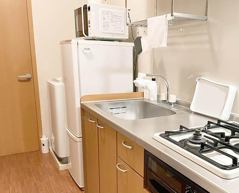 一人暮らしミニマリストのキッチン